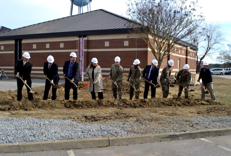 Ground breaking ceremony for new addition Feb 2, 2017